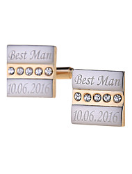 Personalized Cufflinks Engraved Customized Cuff Link Jewelry Wedding Gifts for Men With Gift Box