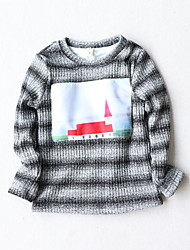 Boy Casual/Daily / School Solid Blouse,Cotton Winter Long Sleeve Regular