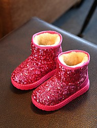 Girl's Boots Comfort Glitter Casual Black / Pink / Red