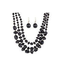 Jewelry 1 Necklace / 1 Pair of Earrings Daily / Casual 1set Women Black Wedding Gifts