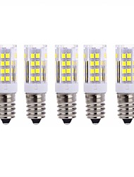 5Pcs A Fil   E14 51Led Smd2835 5w  850Lm AC220   White Warm Natural White Small Céramique maïs Lampe