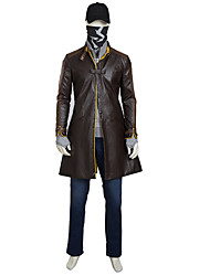 Cosplay Costumes /Watch Dogs2 Game Aiden Pearce Halloween Cosplay Costume Full Set