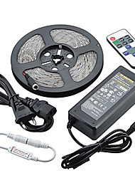Z®zdm imperméable à l'eau 5m 72w 300smd 5730 led strip light 11key contrôleur à distance kit 6a alimentation ac110-240v
