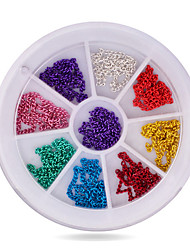 1pcs Metal Nail Art Chain 12cm Mix Colors 3d Glitter Charm Nail