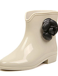 Women's Boots Fall Winter Jelly PVC Casual Black Silver Gold Almond