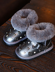 Girl's Baby Boots Winter Comfort Microfibre Casual Platform Others Black Silver Others