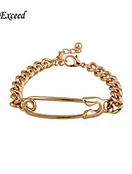 Hot Selling Brand New Simple Fashion Gold Chain Brooch Zinc Alloy Bracelet BL153035