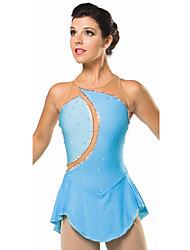 Robe de Patinage Femme Sans manche Patinage Robes Haute élasticité Robe de patinage artistique Respirable / Confortable Dentelle