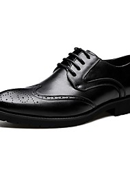 Men's Oxfords / Cowhide / Classic Style / Business / Baroque / Comfort  Office & Career / Casual Black / Brown Walking