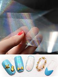 1pcs New Transparent Nail Art Foils Starry Sky Glitter Nail Transfer Sticker Paper