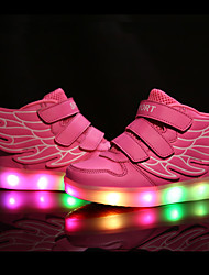 Kids Boy Girl's LED Shoes Sneakers Comfort / Flats Athletic / Casual / Magic Tape / Wings / LED USB Charge Blue / Pink / Red / White