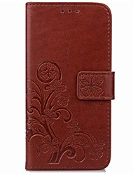 For Wiko Lenny3 Card Holder / Wallet / with Stand / Auto Sleep/Clover Pattern Case Full Body Case Mandala Hard PU Leather