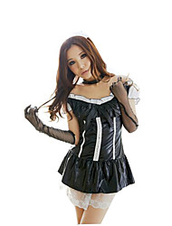 Cosplay Costumes Maid Costumes Festival/Holiday Halloween Costumes Black Solid Skirt Female Polyester