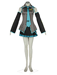 Vocaloid Hatsune Miku Anime Cosplay Costumes Top / Shorts / Tie / Sleeves / Headpiece / Stockings / More Accessories Kid