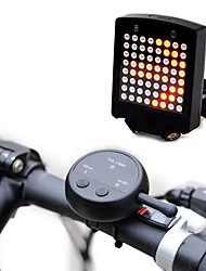 64 LED Wireless Remote Laser Bicycle Rear Tail Light Bike Turn Signals Safety Warning Light 1 Set