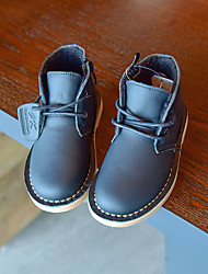 Boy's Boots Winter Others / Comfort Cowhide Casual Zipper Black / Brown