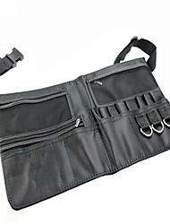 preto duas matrizes composição porta-escova profissional pvc avental saco artista cinto fivela protable compõem saco de escova cosmética