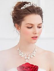Mujer Diamantes Sintéticos Aleación Celada-Boda Ocasión especial CasualTiaras Bandas de cabeza Coronas Clip de Pelo Herramienta para el
