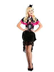 Fest/Feiertage Halloween Kostüme Pink & Schwarz einfarbig Rock / Mützen / Umhang Halloween / Weihnachten / Karneval Frau