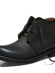 Men's Boots Others Leather Casual Black / Brown