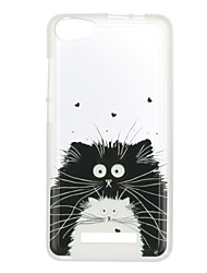 For Wiko Lenny 3 Case Cover Cat Pattern Back Cover Soft TPU Lenny 3 Sunset 2