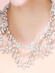 Necklace Crystal / Rhinestone Jewelry Wedding / Party Tassels Crystal / Rhinestone Women 1pc Gift Transparent