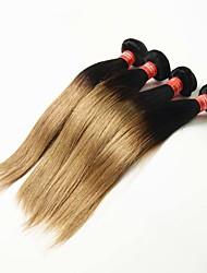 Омбре Бразильские волосы Прямые 12 месяцев 4 предмета волосы ткет