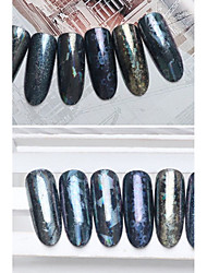 6 pcs/lot  4cm*120cm Manicure transparent paper stars