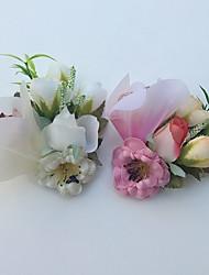 Bouquets de Noiva Lírios Alfinetes de Lapela Casamento / Festa / noite Cetim