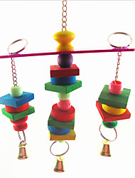 Multi-Color Portable Metal Plastic Bird Toys 1pc