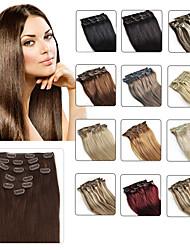 """clip en extensions de cheveux humains 20 """"-24"""" blonde blanc (# 60) 8pcs / set"""