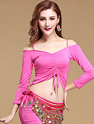 Shall We Belly Dance Top Women Training Modal Long Sleeve Strapless Solid Top
