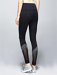 Yoga-Hose Strumpfhosen/Lange Radhose Atmungsaktiv / Leichtes Material / Komfortabel Normal Dehnbar Sportbekleidung Schwarz Damen Sport