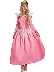 Costumes de Cosplay Princesse / Reine Cosplay de Film Incarnadin Couleur Pleine Robe / Coiffure Halloween / Carnaval Féminin Polyester