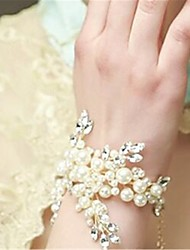 Women's Chain Bracelet Crystal Pearl Imitation Pearl Rhinestone Ivory Jewelry 1pc