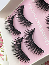 Eyelashes lash Full Strip Lashes Eyes Thick Lifted lashes / Volumized Handmade Fiber Black Band 0.10mm 13mm
