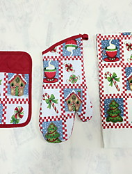 1pc Pocket Mitten, 1pc Oven Glove, 1pc Towel Tissu mitaines de fourPour Gâteau / Pour Pizza / For Chocolate / Pour pain / Pour Cookie /