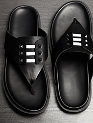 Men's Slippers & Flip-Flops Comfort Leather Casual Black