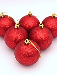 6pcs Christmas Tree Balls Diameter 6cm Decorations Ball Xmas Party Wedding Ornament
