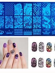 ongles modèle estampage charme nail art ongles outils de timbre de 1pcs