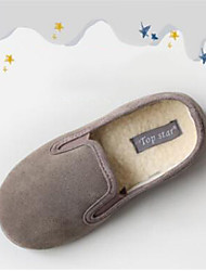 Boy's Loafers & Slip-Ons Fall Winter Other Comfort Other Animal Skin Casual Flat Heel Blue Brown Gray Burgundy Camel