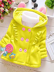Girl Casual/Daily Solid Hoodie & Sweatshirt,Cotton Winter / Fall Long Sleeve Short