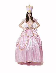 Princesse Conte de Fée Fête / Célébration Déguisement d'Halloween Incarnadin Dentelle Couleur Pleine Robe ChapeauHalloween Noël Carnaval