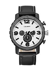 CAGARNY Men Watch/Fashion Watch /Large Dial Watch /Japan Quartz Calendar / Cool /Casual Business Watch