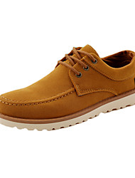 Men's Oxfords Spring Summer Fall Winter Comfort PU Casual Low Heel Lace-up Black Blue Brown