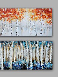 100% Hand-Painted Abstract LandscapeHang-Painted Oil PaintingModern / Classic Two Panels Canvas Oil Painting For Home Decoration