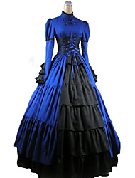 One-Piece/Dress Gothic Lolita Victorian Cosplay Lolita Dress Red/Purple/Black/Blue Solid Long Sleeve Leotard For Women Party Dress Belle Dress