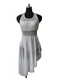Nylon/Lycra Mesh Halter Leotard Skirts Latin Dress Jazz Dance Ballet Dancewear More Colors for Girls and Ladies