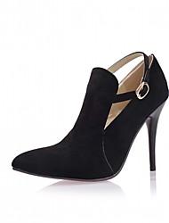 Черный Серый Красный-Для женщин-Для офиса Повседневный Для праздника-Дерматин-На шпилькеОбувь на каблуках