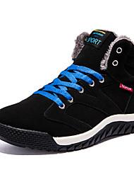 Femme-Décontracté-Noir / Bleu / Vert foncé-Talon Plat-Confort-Sneakers-Microfibre